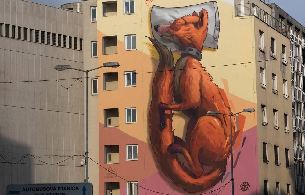 Líška (Fox), street art Bratislava